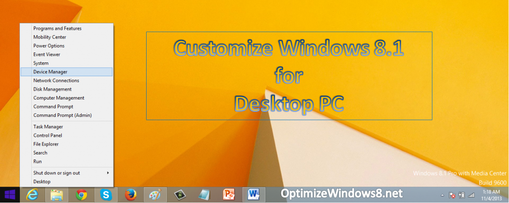 Windows 8.1 Customization Tips for Desktop PCs